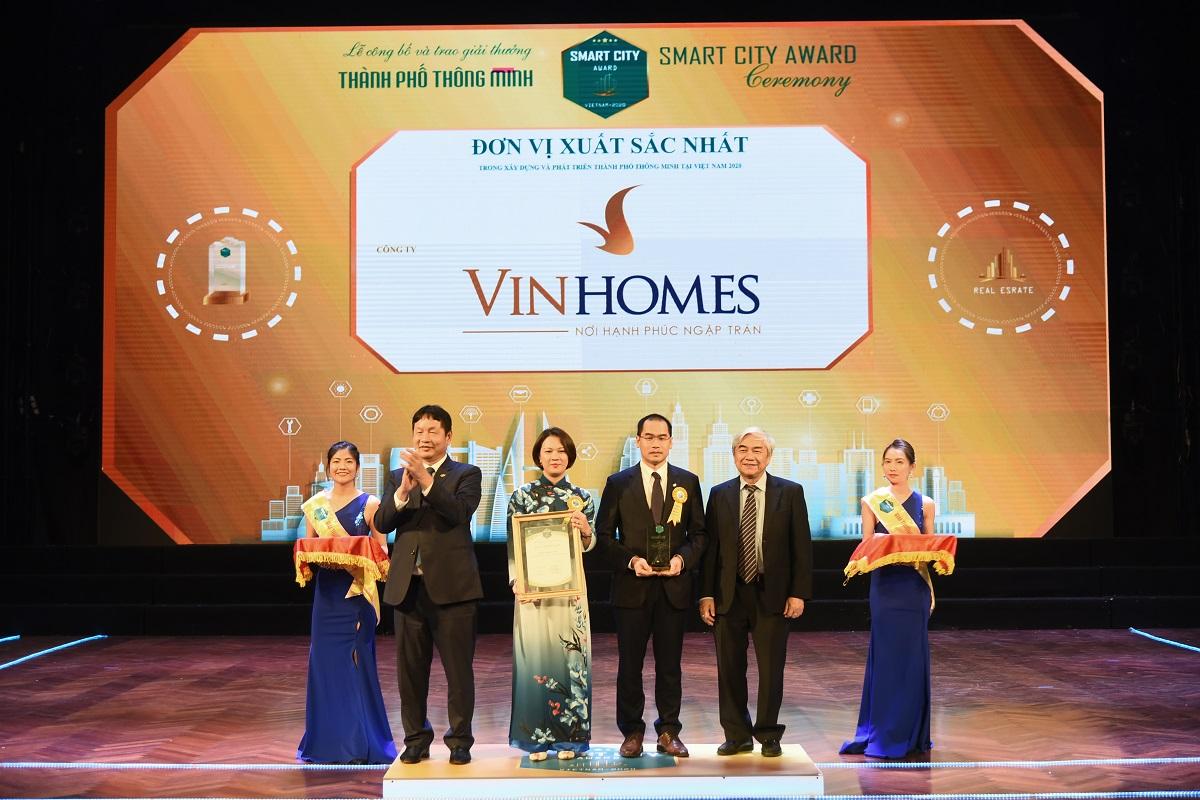 """Vinhomes Ocean Park đạt giải thưởng """"Thành phố Thông Minh 2020"""""""