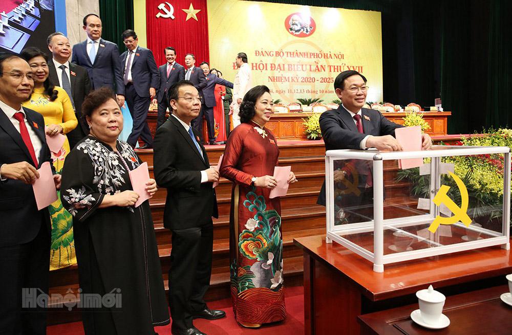 Hoàn thành việc bầu Ban Chấp hành Đảng bộ thành phố Hà Nội khóa XVII