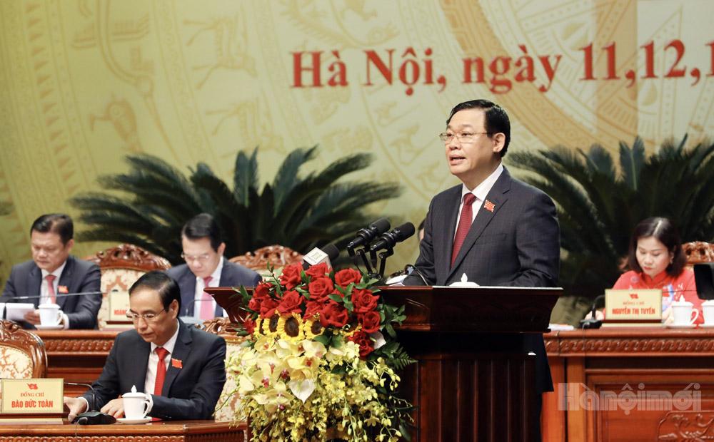 100% đại biểu giới thiệu ông Vương Đình Huệ tái đắc cử Bí thư Thành ủy Hà Nội