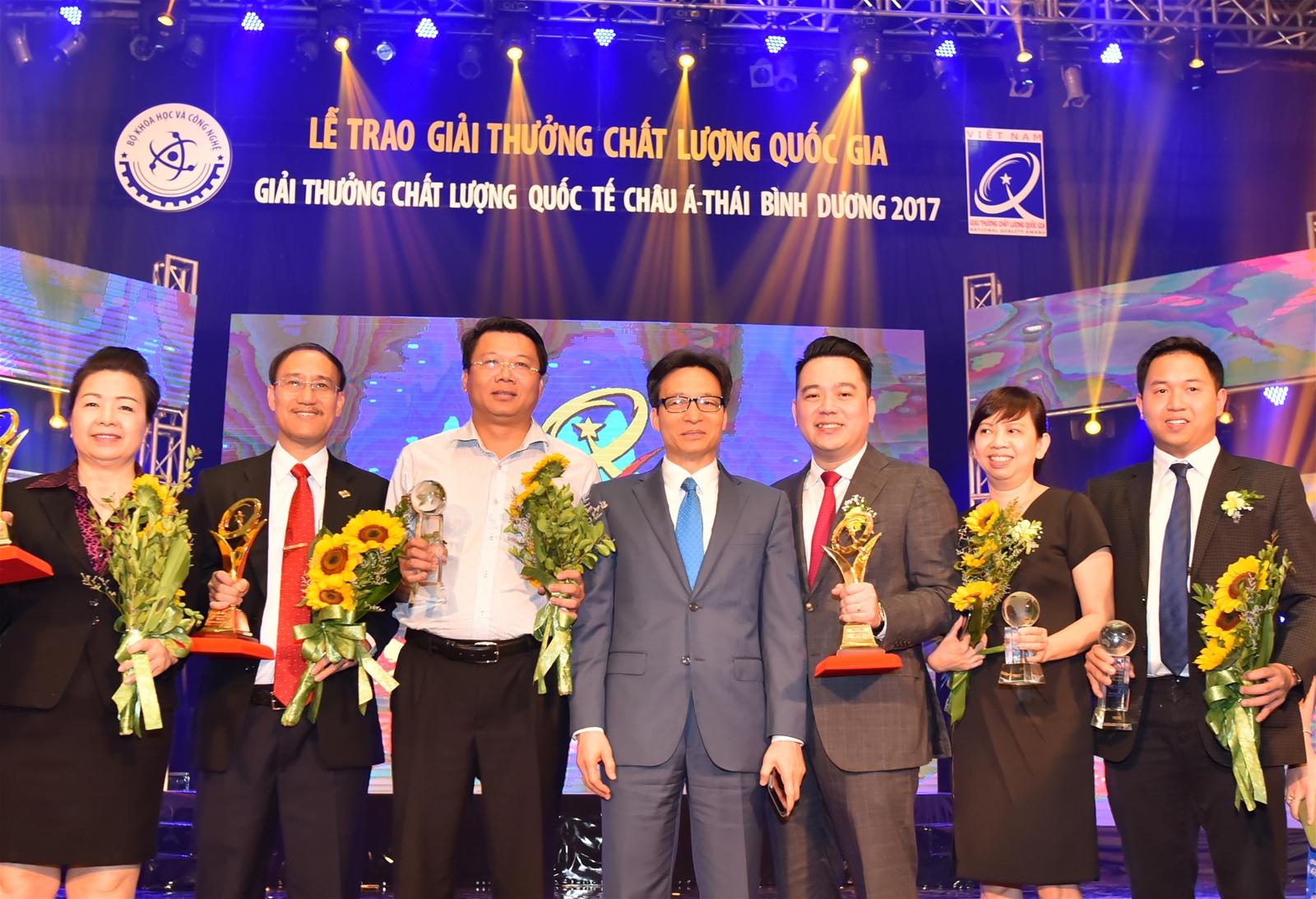 Tập đoàn Tân Á Đại Thành đạt giải thưởng chất lượng Châu Á Thái Bình Dương