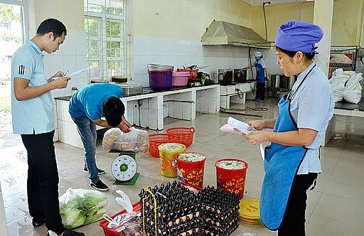Kiểm soát chặt chẽ nguồn thực phẩm đầu vào tại bếp ăn trường học