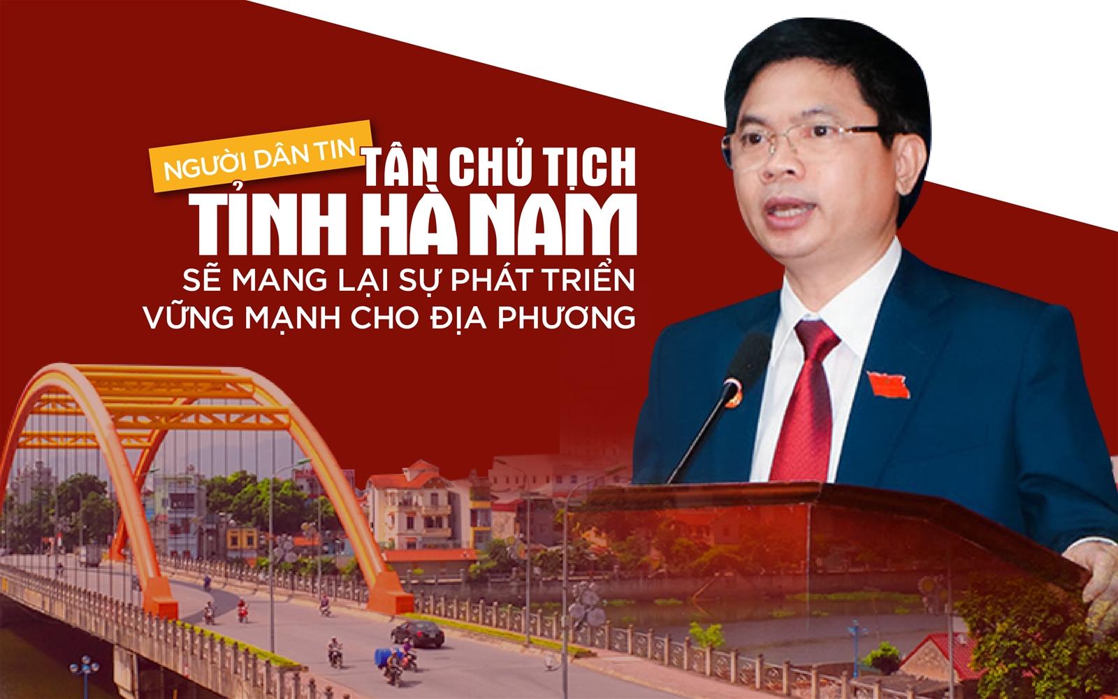 Người dân tin tân Chủ tịch tỉnh sẽ mang lại sự phát triển vững mạnh cho Hà Nam